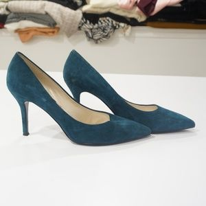 Women's Size 11 Teal Suede Heels- Worn once